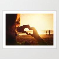 I hearth beach Art Print