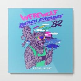 Werewolf Beach Frisbee Metal Print
