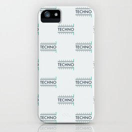 Techno iPhone Case