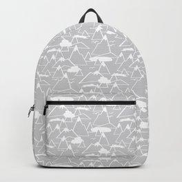 Mountain Scene in Grey Backpack