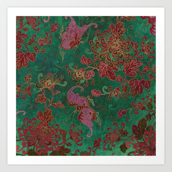 Chrysanthemum Garden Art Print