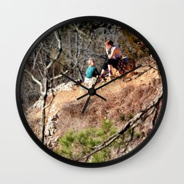 Climbing Up Sparrowhawk Mountain above the Illinois River, No. 8 of 8 Wall Clock