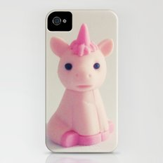 Pink Unicorn Sees You iPhone (4, 4s) Slim Case