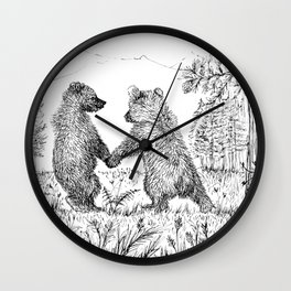 Cute Bears Wall Clock