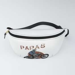 Mens Real Papas Ride Motorcycles design Funny Gift for Grandpas Fanny Pack