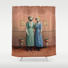The Sloth Sisters at Home Shower Curtain