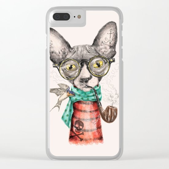 Mr.Peterbald Clear iPhone Case