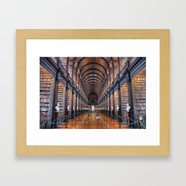 The Long Room at Trinity College Framed Art Print
