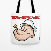 popeye Tote Bags featuring popeye by store2u