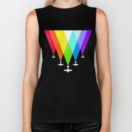 Rainbow & planes Biker Tank