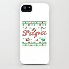 Papa Christmas iPhone Case