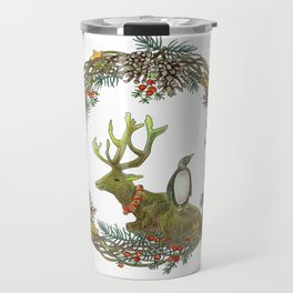 Christmas wreath Travel Mug