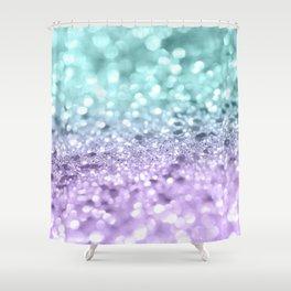 Aqua Purple MERMAID Girls Glitter #1 #shiny #decor #art #society6 Shower Curtain