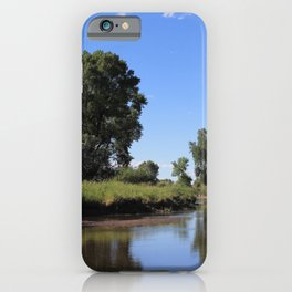 Tree Lined Laramie River iPhone Case