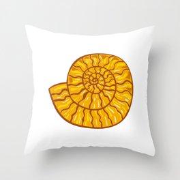 Ammonite Retro Throw Pillow