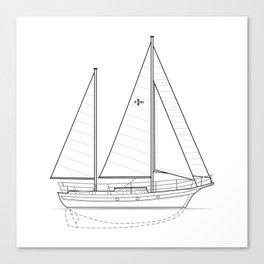 Islander Freeport 41 Canvas Print