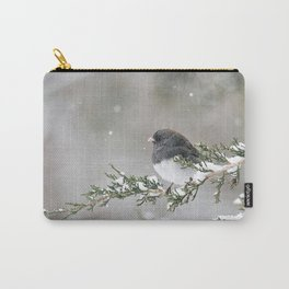 Snowbird on a Snowy Branch (Junco) Carry-All Pouch
