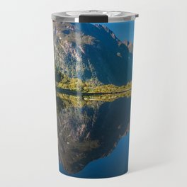 Mountain View Reflections in Water at Milford Sound Travel Mug