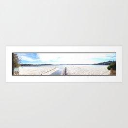 Panoramic Bay Art Print