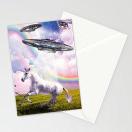 UFO Abducting Unicorn Stationery Cards