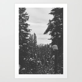be still like the mountains Art Print