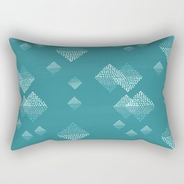 Ombré dazzling dotted squares small dark teal Rectangular Pillow