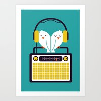 radio Art Prints featuring Radio Mode Love by Picomodi