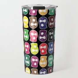 Skimask Color Pattern Travel Mug