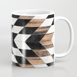 Urban Tribal Pattern No.13 - Aztec - Concrete and Wood Coffee Mug