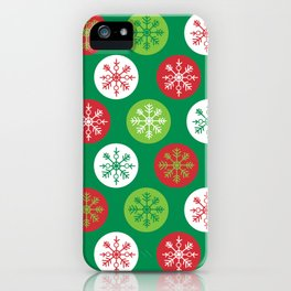 Kitschy Christmas Snowflakes iPhone Case
