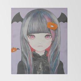 Pumpkin Nightmare Throw Blanket