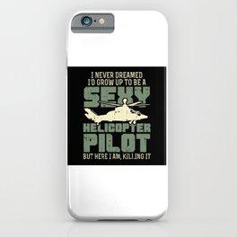 Helicopter Pilot Gift Idea Design Motif iPhone Case
