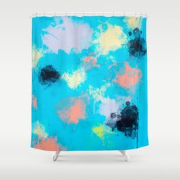 Abstract Paint splatter design Shower Curtain