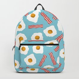 eggs and bacon breakfast food fight apparel and gifts Backpack