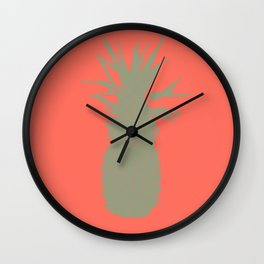 Coral Pineapple Wall Clock