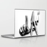 los angeles Laptop & iPad Skins featuring Los Angeles by big tony