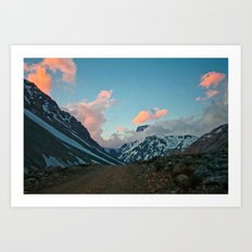 Road to the Clouds Art Print