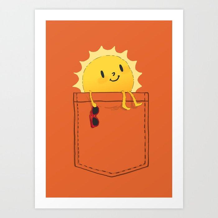 Pocketful of sunshine Art Print
