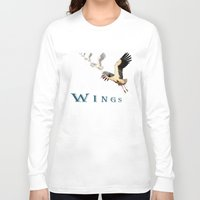 wings Long Sleeve T-shirts featuring Wings by Avigur