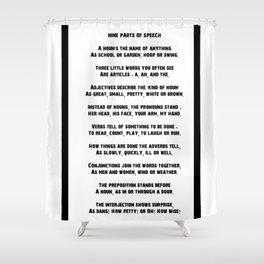Parts of Speech Rhyme Shower Curtain