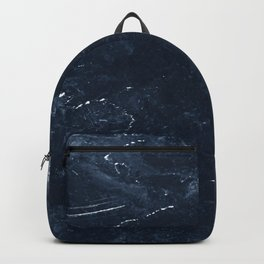 Navy Marble Backpack
