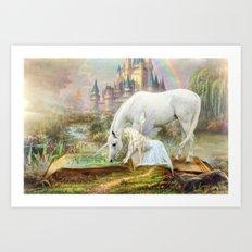 Fairy Tales and Unicorns Art Print