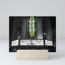 The Rex theater Mini Art Print