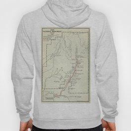 Vintage Zion National Park Map (1919) Hoody