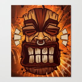 Happy Tiki Canvas Print