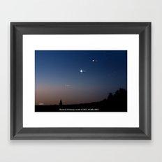 Southeast sky before sunset. Framed Art Print