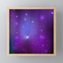 Fantasy Purple Night Sky Framed Mini Art Print