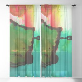 Abstract Bliss 4G by Kathy Morton Stanion Sheer Curtain