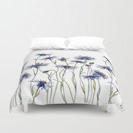Blue Cornflowers, Illustration Duvet Cover