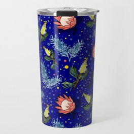 Australian Native Floral Pattern - Bright and Cute Travel Mug